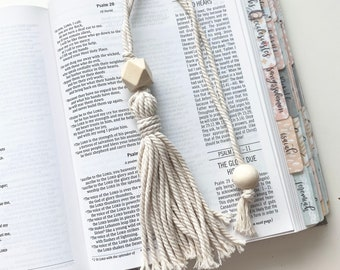 Macrame Tassel Bible Bookmark