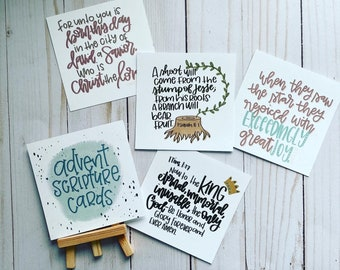 Advent Scripture Cards With Easel