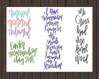 Easter Bible Journaling Printable
