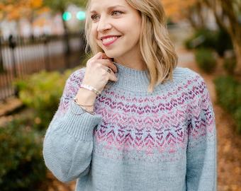 make your own Hayven Sweater (DIGITAL KNITTING PATTERN) pullover for adult women teen junior