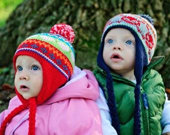 make your own Cheery Scrap Cap (DIGITAL KNITTING PATTERN) baby toddler child tween teen adult