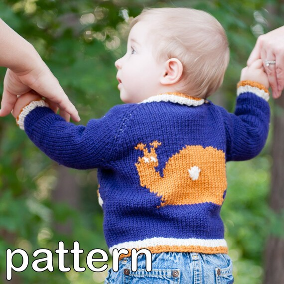 Make Your Own Tipped Baby Cardigan Digital Knitting Pattern Etsy