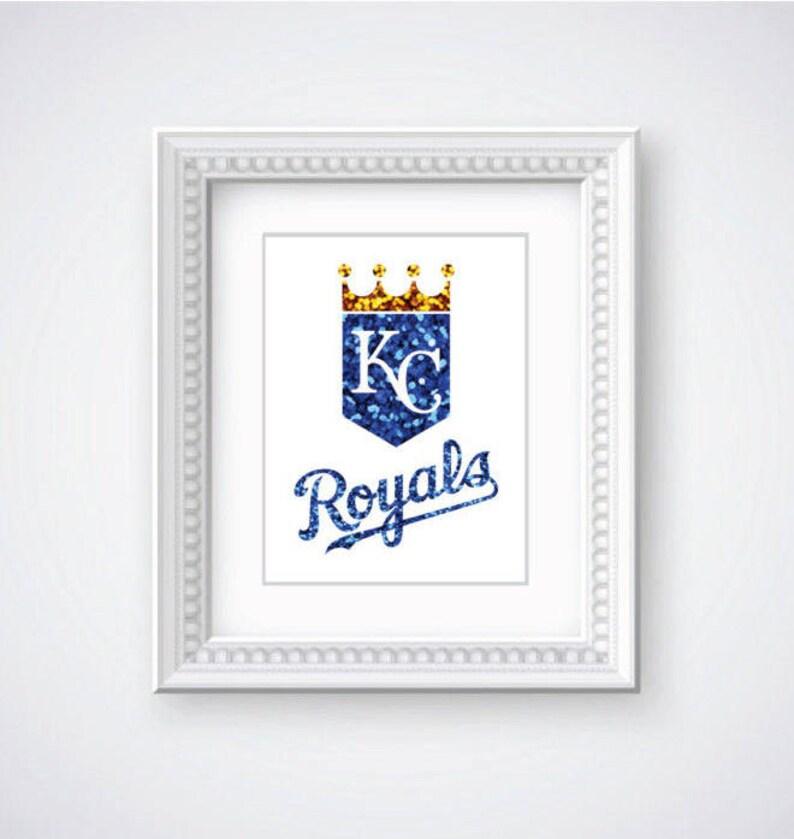 photograph relating to Kansas City Royals Printable Schedule named Kansas Metropolis Royals MLB Glitter Printable, Baseball Artwork, Royals Artwork, KC Wall Print, Royals Decor, Property Printable, DYI Artwork Printable