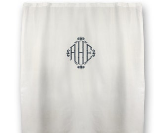 Monogrammed Shower Curtain