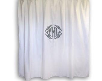 Monogrammed Applique Shower Curtain