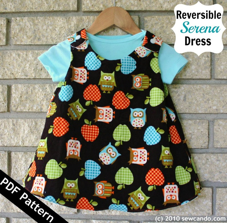 Sew Can Do Reversible Serena Baby Dress PDF Pattern image 0