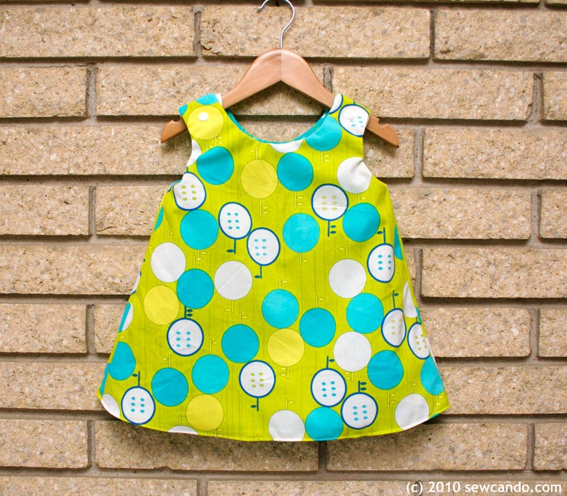 Sew Can Do Reversible Serena Baby Dress PDF Pattern image 2