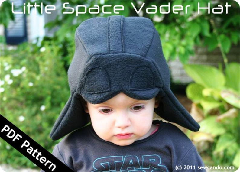 Little Space Vader Hat PDF Pattern image 0