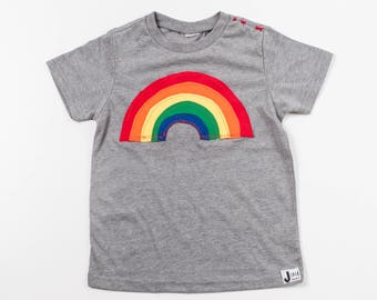 Kids Rainbow Tee | Baby Rainbow Tee | Rainbow Kids & Baby Tee | Rainbow Vibes | Over the Rainbow | Rainbow Baby | Kids Apparel | Toddler