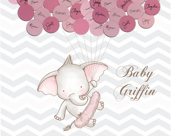 Baby Shower Guest Book Alternative Print - Girl