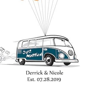 VW Bus Wedding Guest Book Alternative