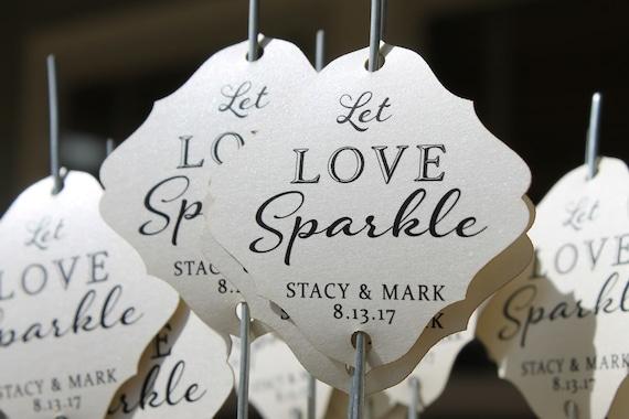 Sparkler Tags Wedding Sparkler Send Off Wedding Sparkler Etsy