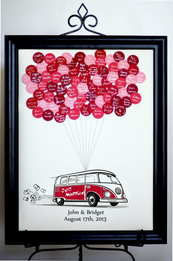 Wedding Guest Book Balloons Vw Bus For Up To 150 Guests Etsy