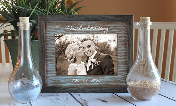 Unity Sand Ceremony Frame Set In Dark Barnwood Shabby Chic Etsy