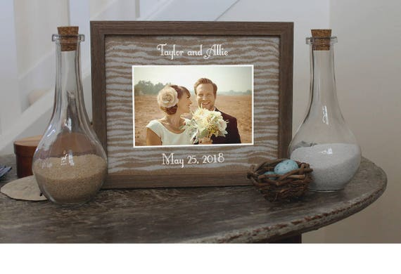 Unity Sand Ceremony Frame Set In White Black Cherry Or Etsy