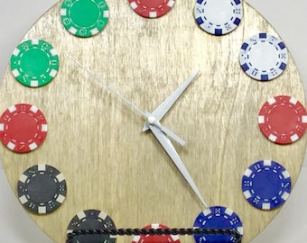 Poker Chip Clock