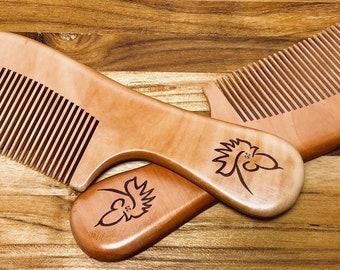 Wood Comb - GC Logo