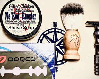 Shaving Bag Set, Safety Razor