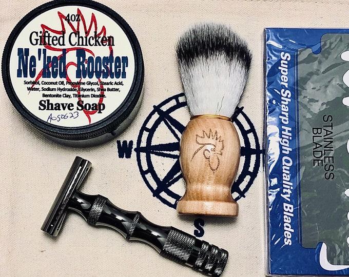 Featured listing image: Shaving Bag Set, Safety Razor