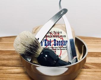 Shave Kit, Straight Razor Stainless