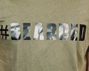 T-shirt, #Bearded (Premium Soft)