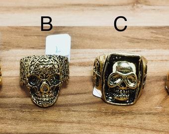 Biker Rings, Gold