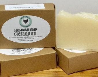 Bar Soap (Handmade), Geranium