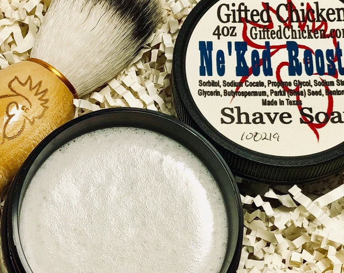 Featured listing image: Shave Soap Jar, Ne'ked Rooster