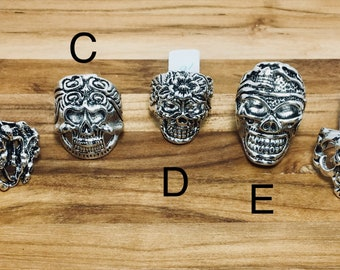 Biker Rings, Silver