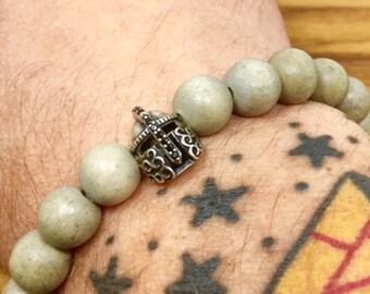 Beaded Bracelet - Light Gray