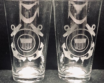 Beer Glasses, Coast Guard