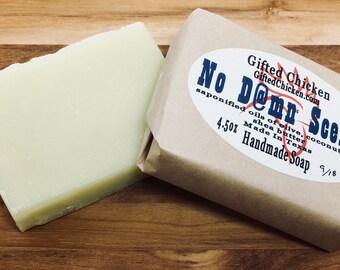 Handmade Soap, No D@mn Scents