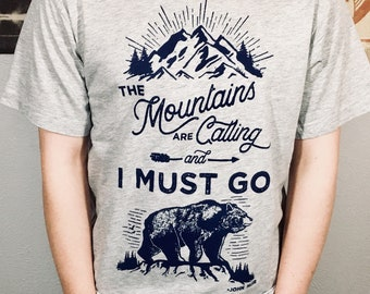 T-shirt, Mountains Are Calling (Premium Soft)