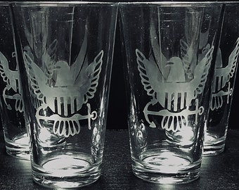 Beer Glasses, Navy