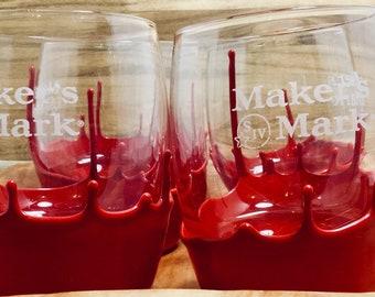 Whiskey Glasses, Maker's Mark