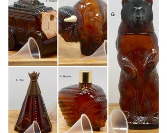 Vintage Cologne Bottles, refillable with funnel - Old West