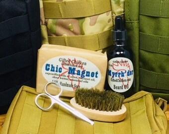 Tactical Beard Oil Bag Set