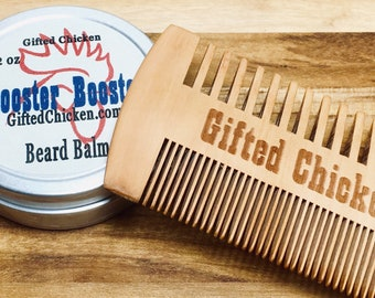 Beard Balm Gift Set, Rooster Booster