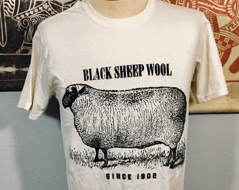 T-shirt, Black Sheep Wool (Premium Soft)