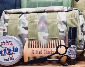 Tactical Beard Balm Bag Set