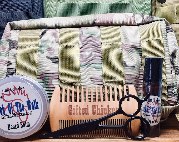 Featured listing image: Tactical Beard Balm Bag Set