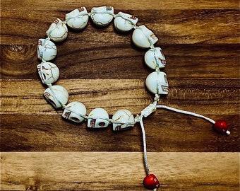 Beaded Bracelet, Skulls