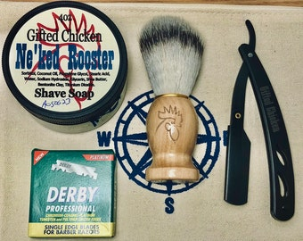 Shaving Bag Set, Straight Razor