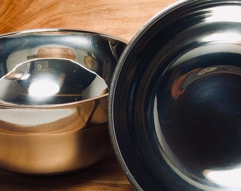 Shave Bowl, Stainless Steel