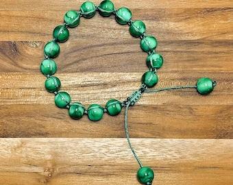 Beaded Bracelet, Emerald Glass