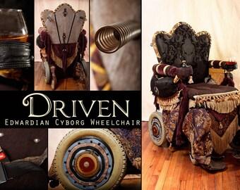 Driven: the Edwardian Cyborg Wheelchair  5 x 7 photographic print