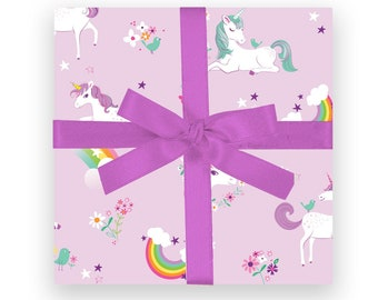 GIFT WRAP - Unicorns & Rainbows