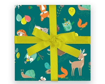 GIFT WRAP - Forest Woodland Party
