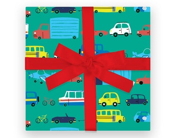 GIFT WRAP -  Cars and Trucks