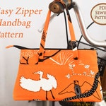 Easy Zipper Handbag Pattern | PDF Sewing Pattern | Bag Sewing Pattern | Great for beginners